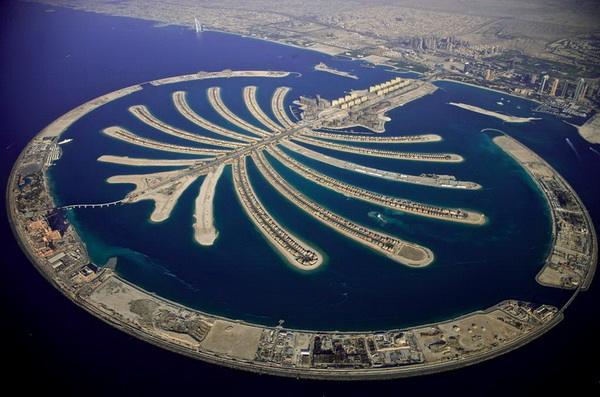 """Искусственный остров """"Пальма"""". Дубаи, ОАЭ."""