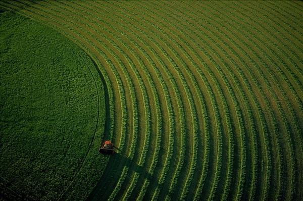 Трактор на поле возле Бозмана. Монтана, США