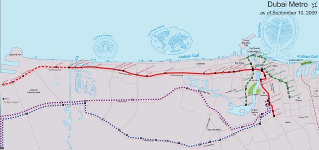 Дубаи метро схема